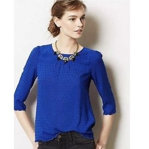 Maeve Emmeline Blouse with Swiss Dot Detail